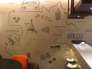 Imagem de parede do restaurante Moquém em Manaus
