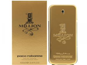 Caixa e frasco do perfume Pacco Rabbane One Million