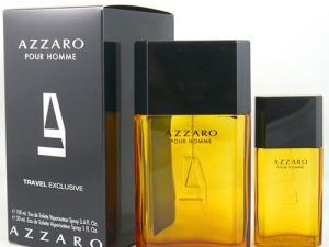Caixa e dois frascos do perfume Azzaro Pour Homme
