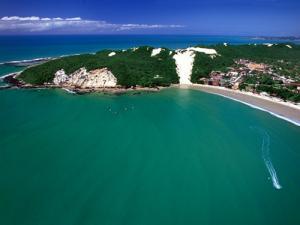 Vista aérea de praia em Natal