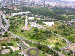 Vista aérea do Parque do Ibirapuera