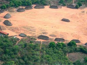 Imagem aérea do parque indígena do Xingú
