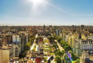 Foto aérea de Buenos Aires, na Argentina