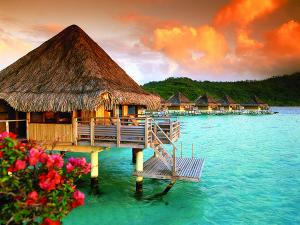 French Polynesian bungalows